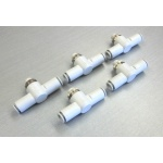 SMC AS-3001F-08 tube 8mm In line speed/flow control pneumatic fitting *LOT OF 5*