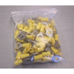 """100 Panduit PV10-14R insulated crimp ring terminal 12-10 AWG 1/4"""" stud"""